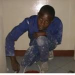 Joshua Ngoma in action.